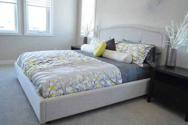nowoczesne łóżko do sypialni tapicerowane